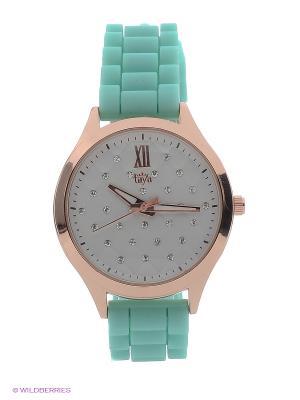 Часы Taya. Цвет: золотистый, светло-зеленый