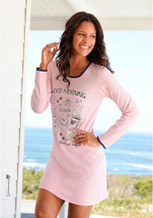 Ночная сорочка, 2 штуки VIVANCE. Цвет: темно-синий+розовый
