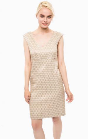 Бежевое платье без рукавов Cinque. Цвет: бежевый