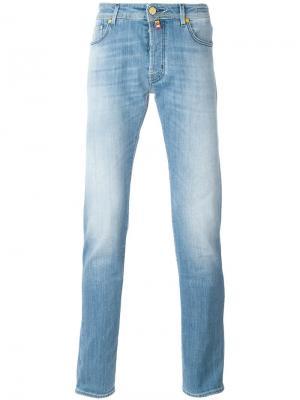 Выбеленные джинсы Jacob Cohen. Цвет: синий