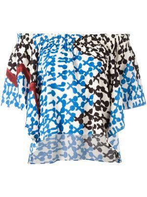Off-shoulders shift blouse Tsumori Chisato. Цвет: белый