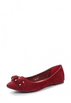 Балетки Ideal Shoes. Цвет: бордовый
