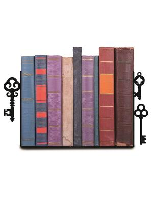 Декоративная подставка-ограничитель для книг Ключи Magic Home. Цвет: черный