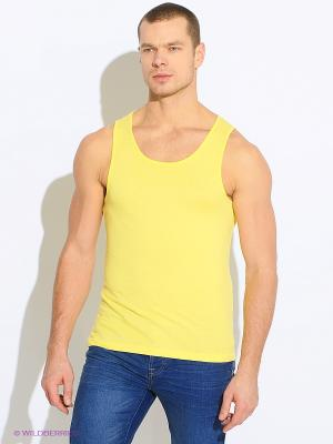 Майка Oodji. Цвет: желтый