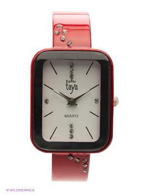 Часы Taya. Цвет: красный
