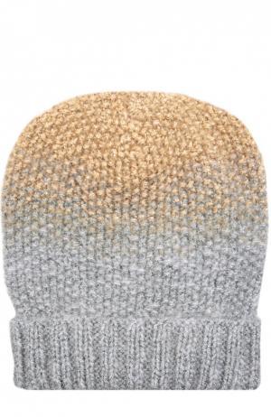 Двухцветная вязаная шапка Asha Eugenia Kim. Цвет: серебряный