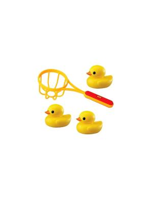 Игрушка для ванной Сачок и утки Tolo. Цвет: желтый