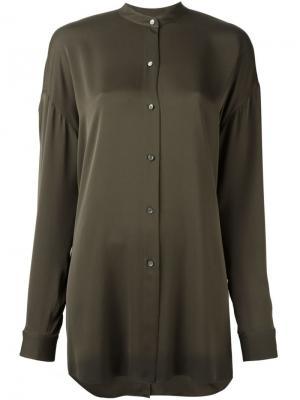 Свободная рубашка Helmut Lang. Цвет: серый