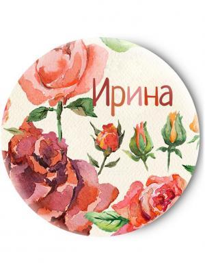Зеркальце Tina Bolotina. Цвет: светло-серый, красный