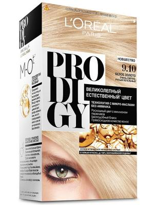 Краска для волос Prodigy без аммиака, оттенок 9.10, Белое Золото L'Oreal Paris. Цвет: светло-бежевый
