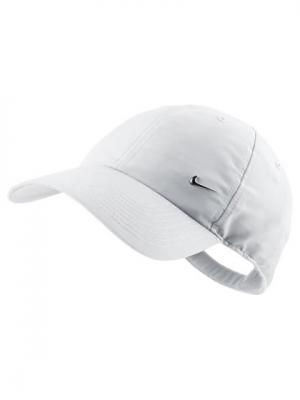 Бейсболка METAL SWOOSH CAP Nike. Цвет: белый, серебристый