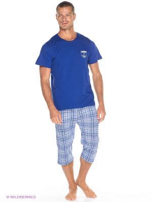 Комплект одежды Vienetta Secret. Цвет: синий, белый