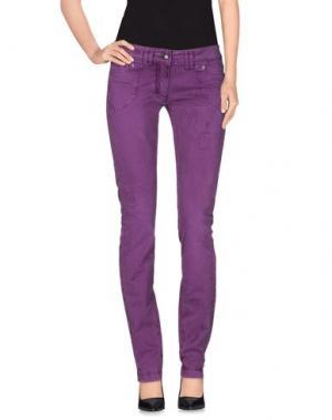 Повседневные брюки ONE SEVEN TWO. Цвет: фиолетовый