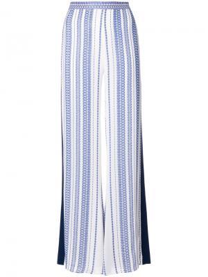 Расклешенные брюки с принтом Zeus+Dione. Цвет: синий