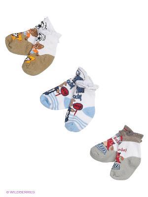 Носки, 3 пары Malerba. Цвет: коричневый, голубой