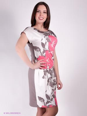 Платье Yuliya Shehodanova. Цвет: серый, молочный, розовый