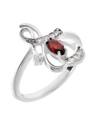 Кольцо BALEX. Цвет: красный, серебристый