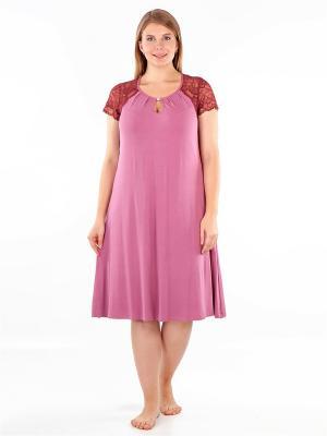 Ночная сорочка LORICCI. Цвет: розовый