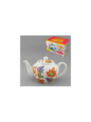 Чайник ВОСТОЧНЫЙ МИКС 600 мл LARANGE. Цвет: белый