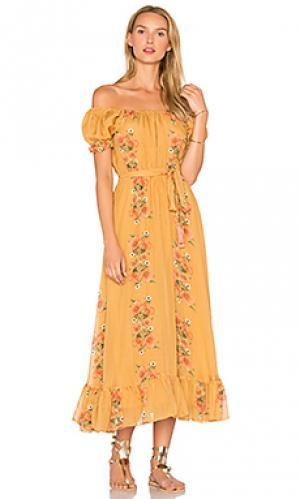 Платье alexa Carolina K. Цвет: горчичный