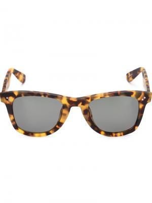 Солнцезащитные очки Charles Krewe Du Optic. Цвет: коричневый