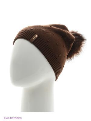 Шишка Беркле шапка женская с помпоном Berkle. Цвет: темно-коричневый