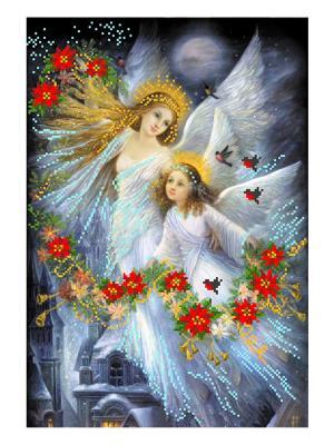 Рисунок на шелке Рождественская сказка Матренин Посад. Цвет: белый, горчичный, красный, серо-голубой