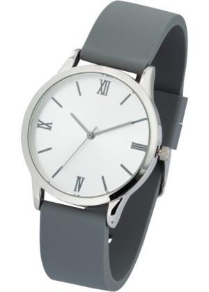 Часы на силиконовом браслете (серебристо-серый) bonprix. Цвет: серебристо-серый
