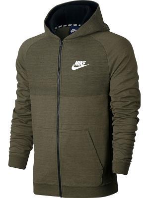 Толстовка M NSW HOODIE FZ AV15 KNIT Nike. Цвет: оливковый