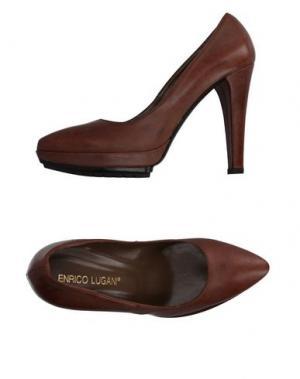 Туфли ENRICO LUGANI. Цвет: хаки