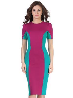 Платье GREY CAT. Цвет: фуксия, бирюзовый