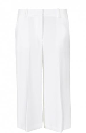Укороченные широкие брюки с карманами Theory. Цвет: белый