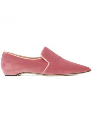 Лоферы Maude Paul Andrew. Цвет: розовый и фиолетовый