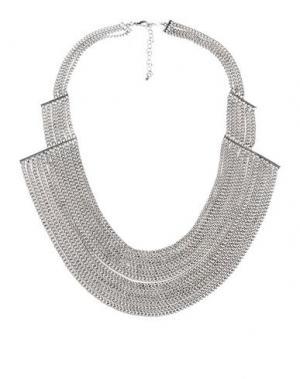 Ожерелье DETTAGLI. Цвет: серебристый