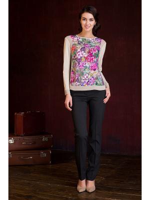 Блузка KEY FASHION. Цвет: бежевый, сиреневый
