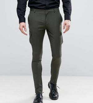 Heart & Dagger Облегающие строгие брюки-карго. Цвет: зеленый