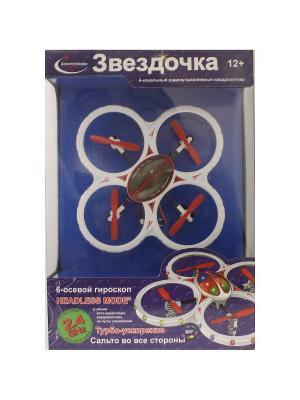 Квадрокоптер радиоуправляемый ЗВЕЗДОЧКА, красно-белый ВластелиНебес. Цвет: белый, красный