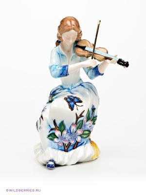 Девушка со скрипкой Pavone. Цвет: белый, голубой, коричневый