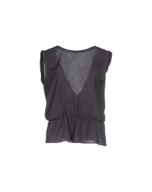 Блузка SIMONA MARTINI. Цвет: свинцово-серый