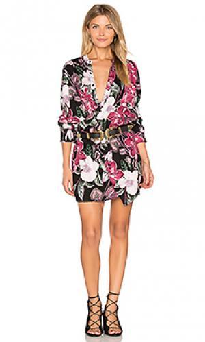 Платье с перекрестными шлейками спереди Stillwater. Цвет: черный