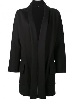 Пальто без застежки Peter Cohen. Цвет: чёрный