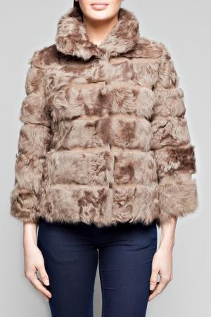 Меховая куртка Giorgio. Цвет: серый
