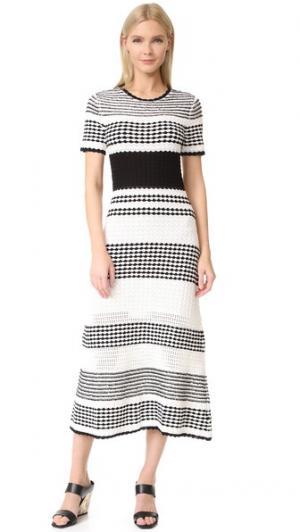 Платье с короткими рукавами Bennington Novis. Цвет: белый
