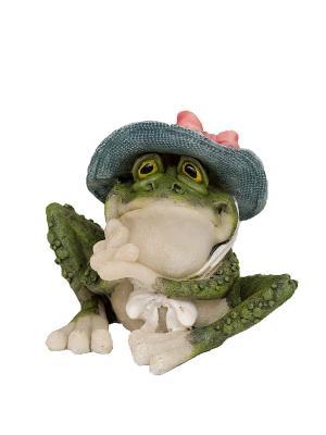 Фигура мал. Лягушка Кокетливая шляпка Sealmark. Цвет: зеленый