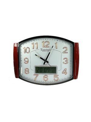 Часы настенные Русские подарки. Цвет: белый, коричневый