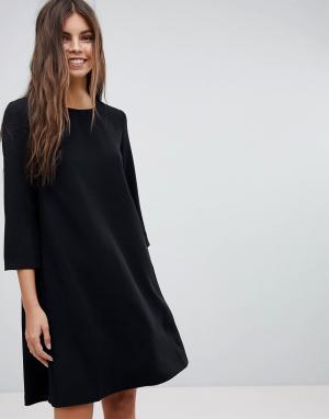 See U Soon Платье А-силуэта с кокеткой на спине. Цвет: черный