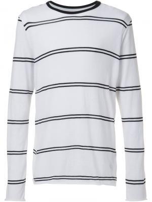 Double stripe longsleeved T-shirt Amiri. Цвет: белый