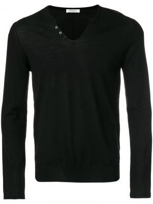 Трикотажный свитер Paolo Pecora. Цвет: чёрный