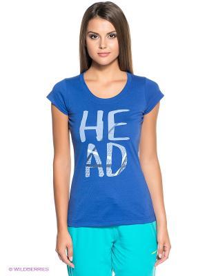 Футболка Nip T-Shirt HEAD. Цвет: синий