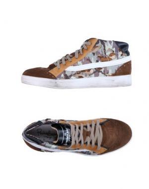 Высокие кеды и кроссовки PRIMABASE. Цвет: какао
